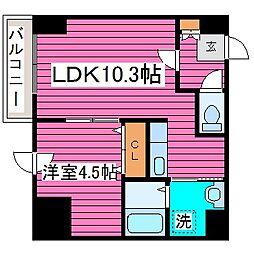 北海道札幌市北区新琴似七条5丁目の賃貸マンションの間取り