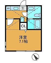 アルスハイツ[1階]の間取り