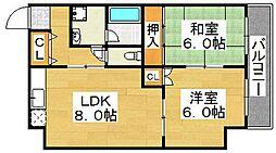 A-HEIGHTS[3階]の間取り