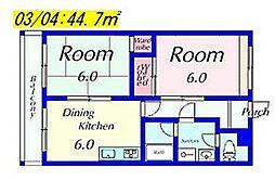 M'sマンション[1D号室号室]の間取り