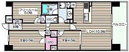 S-GLANZ大阪同心[7階]の間取り
