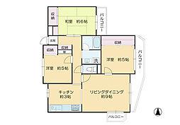 東京都世田谷区玉川3丁目の賃貸マンションの間取り