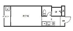 poika四条烏丸(ハイツ静)[4-B号室号室]の間取り
