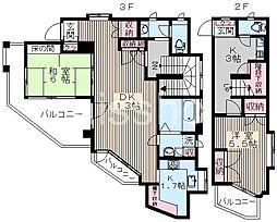 7573−プリオールカーサ[3階]の間取り