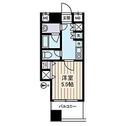 西川ビル[6階]の間取り