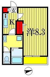 メゾン・ド・千葉 3階1Kの間取り