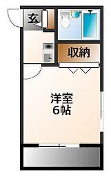 兵庫県西宮市上田中町の賃貸アパートの間取り