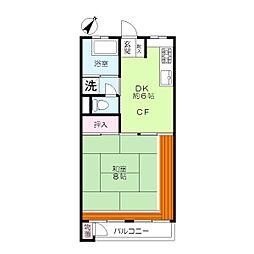 青葉マンション2号館[4階]の間取り