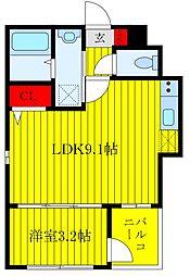 (仮称)北区豊島1丁目新築 1階1LDKの間取り