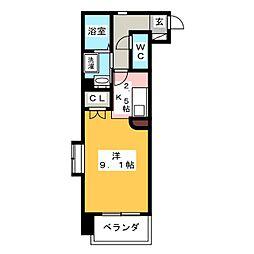 HIRO尾頭橋[3階]の間取り