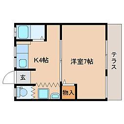 静岡県静岡市葵区沓谷1丁目の賃貸アパートの間取り