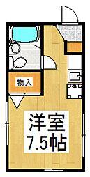 リヴィエール竹村[1階]の間取り