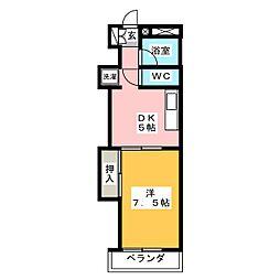 芹澤マンション[3階]の間取り