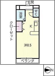 サイプレス[1階]の間取り