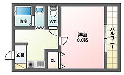 アクシリア駒川[3階]の間取り