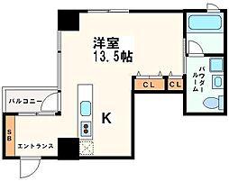KWレジデンス堺筋本町[7階]の間取り