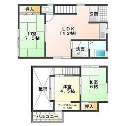 [一戸建] 兵庫県神戸市垂水区塩屋町9丁目 の賃貸【/】の間取り