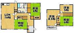 [一戸建] 兵庫県川西市水明台2丁目 の賃貸【/】の間取り