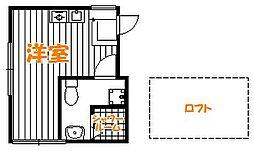 東京都葛飾区東堀切2丁目の賃貸アパートの間取り