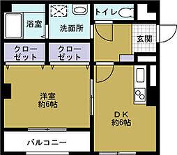 メゾンポルタ[3階]の間取り