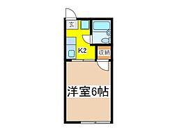 シティハイムエフォール[1階]の間取り
