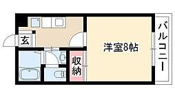 愛知県名古屋市南区鶴田1丁目の賃貸アパートの間取り
