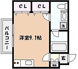 パインコート浜芦屋[3階]の間取り