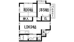 北斗ビル[3階]の間取り