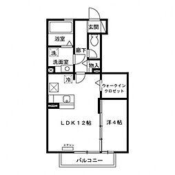 花水木G棟[1階]の間取り