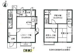 [テラスハウス] 兵庫県伊丹市緑ケ丘2丁目 の賃貸【/】の間取り