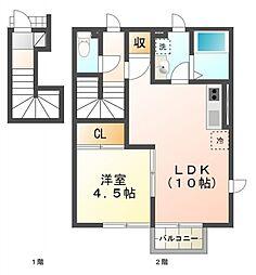 デザインコートパーチェ[2階]の間取り
