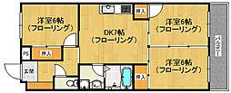 野田部ビル[604号室]の間取り