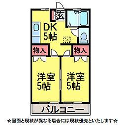 千葉県佐倉市臼井の賃貸アパートの間取り