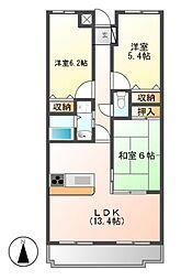 セレニール香南[3階]の間取り