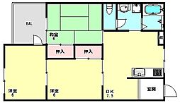 兵庫県神戸市須磨区白川台1丁目の賃貸マンションの間取り