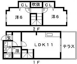 メゾンドミニョン[1階]の間取り