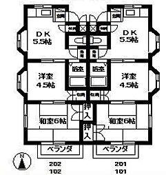第二ミキハウス[2階]の間取り
