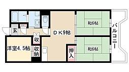 愛知県名古屋市南区元塩町5丁目の賃貸マンションの間取り