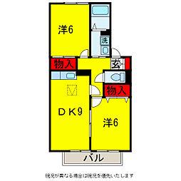 グランメールハイム壱・弐番館[2階]の間取り