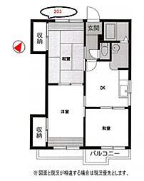 ドミールヤマソー[2階]の間取り