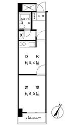 モナーク伊勢佐木[505号室]の間取り
