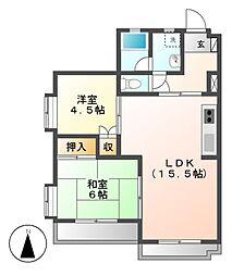第18オオタビル[1階]の間取り