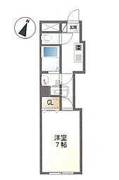 東京都中央区新富2丁目の賃貸マンションの間取り