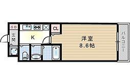 ボンジュール西九条[6階]の間取り