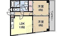 ビジタル恵美須11[501号室]の間取り