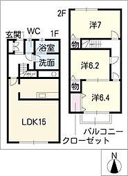 [タウンハウス] 愛知県半田市宮本町4丁目 の賃貸【/】の間取り