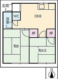 有明荘[2階]の間取り