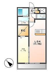 メゾン新守西[2階]の間取り