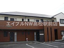 香川県高松市鬼無町是竹の賃貸マンションの外観