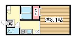 オリーブハウス[104号室]の間取り